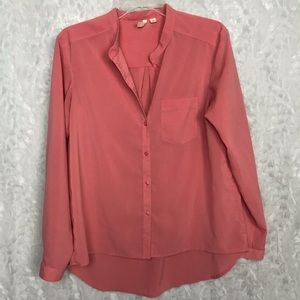 Frenchi coral small career top button up pocket